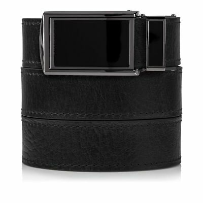 SlideBelts Factory Seconds Black Top Grain Ratchet Belt