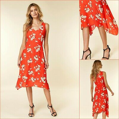 Wallis DressSize 18Cream Tropical Print Fit and FlareBNWT£45 RRPNew