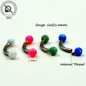 Fire-Opal-Eyebrow-Ring-Ear-Anti-Tragus-Helix-Rook-Bridge-Piercing-Curved-Barbell