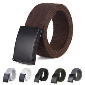 Women-Men-Casual-Waistband-Canvas-Belts-Military-Web-Belt-Automatic-Buckle-Lot