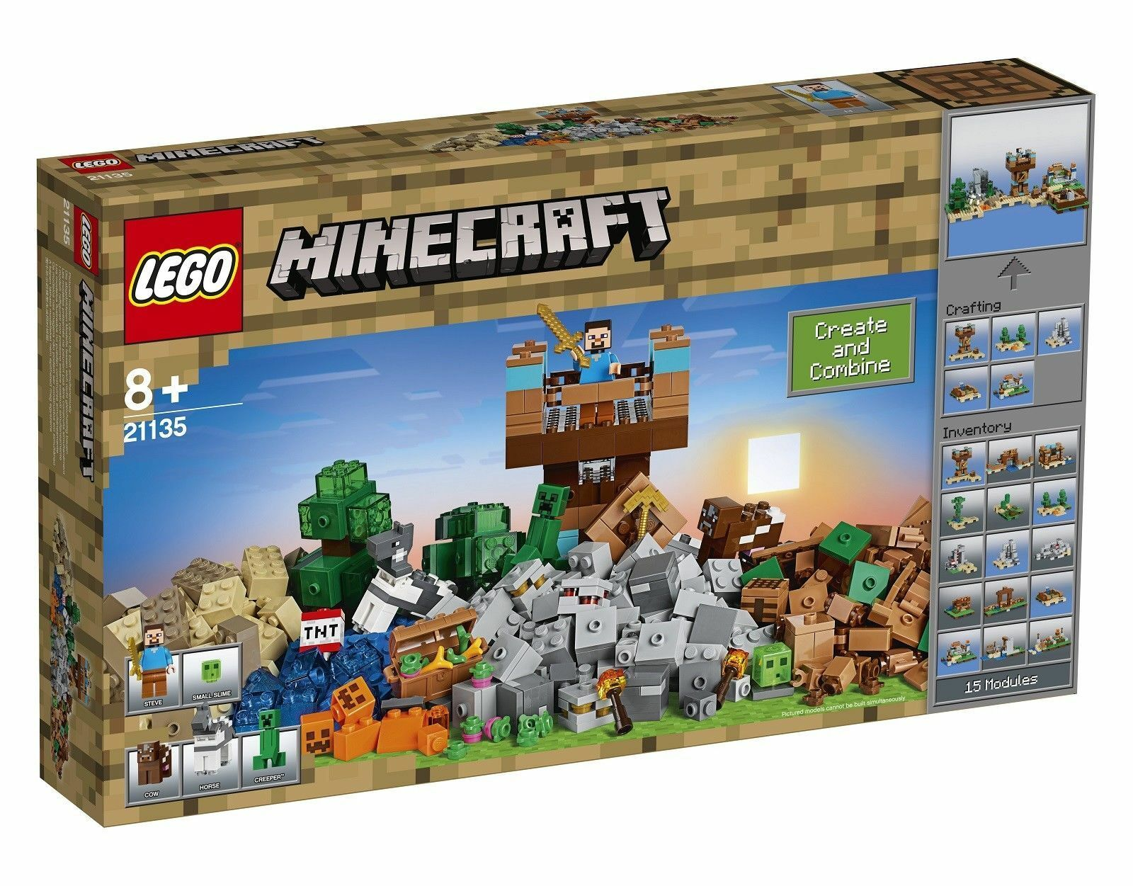LEGO MINECRAFT ModelTHE CRAFTING BOX 2.0 - 717 piece set - Ages 8+ NEW