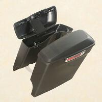 5 Stretched Hard Saddle Bags W/key For Harley Davidson Touring Models 2014-2017