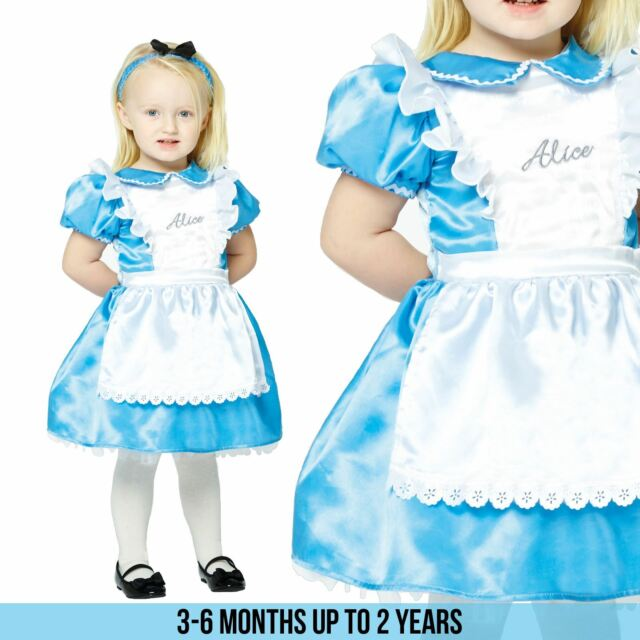 Licensed Alice In Wonderland Fairytale Kids Girls Fancy Dress Costume Book  Week