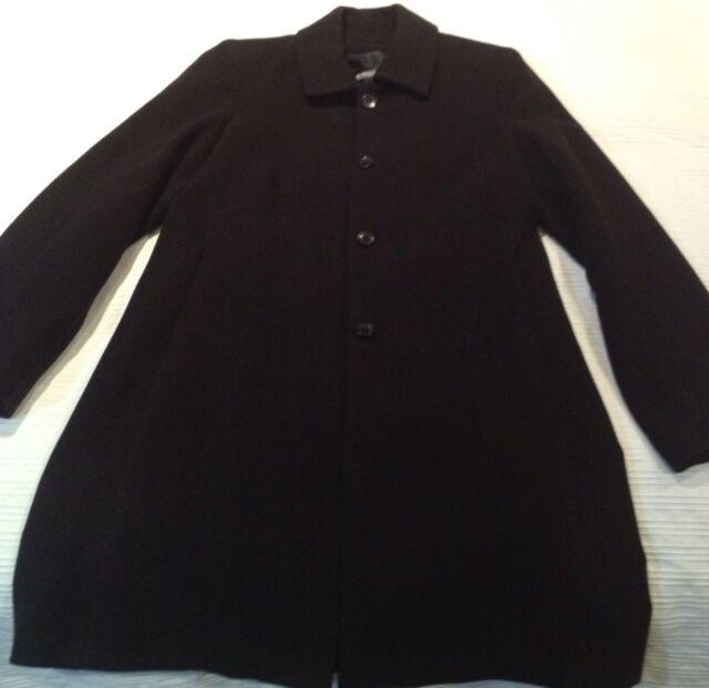 Black Wool Long Coat .... Size S/ 10