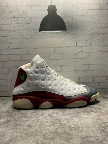 2005 Jordan Retro XIII 13 Grey Toe White Red Flint