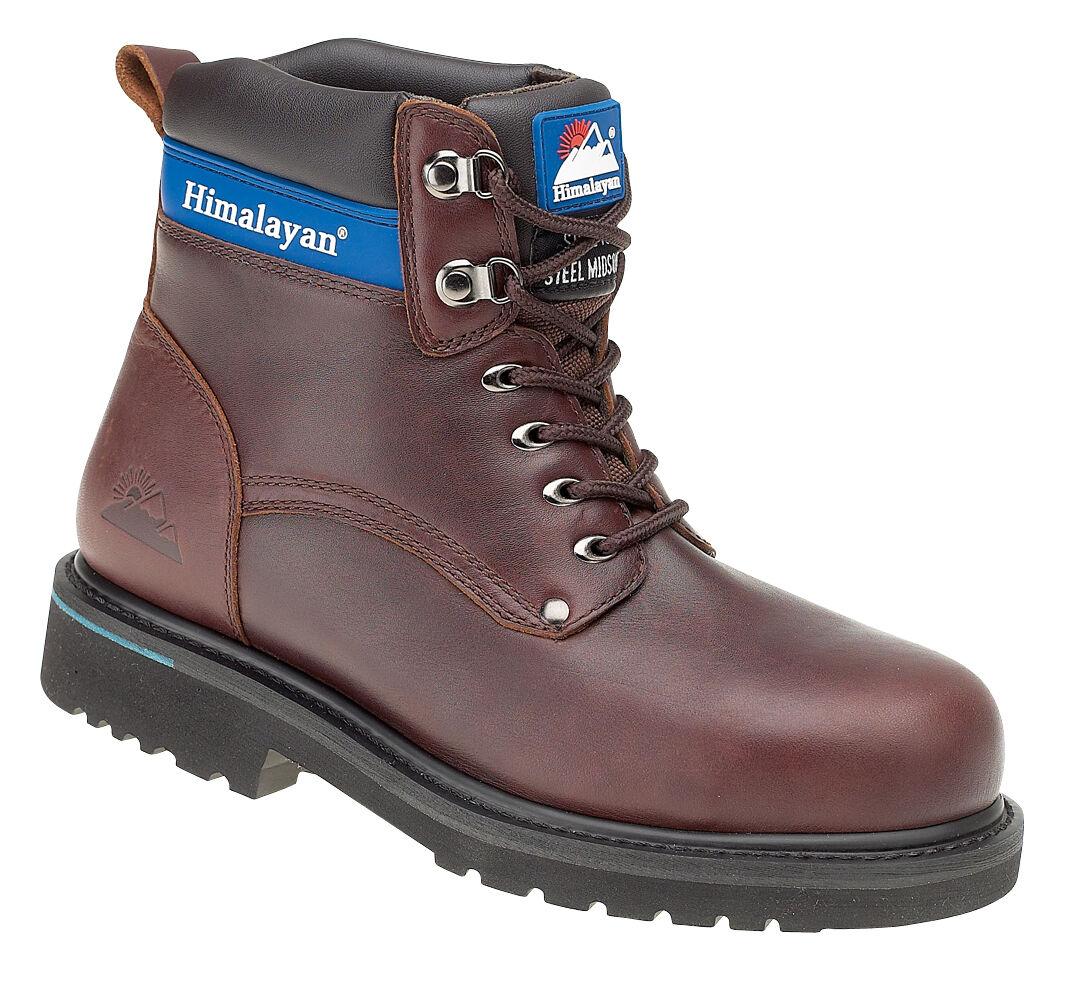 Dell' Himalaya 3103 Sbp SRA in pelle marrone GOODYEAR la Punta in Acciaio Tappo Stivali di sicurezza