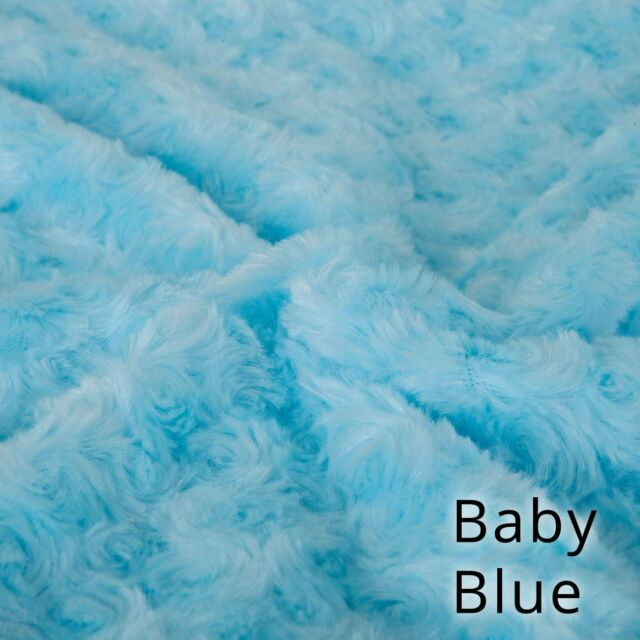 Neotrims Soft Pile Minky Rose Fur Fabric 20 Colours, Baby Photography Backdrop