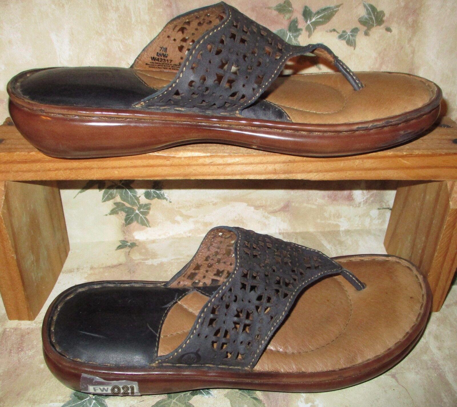 Né fabriqué à la Main bleu Foncé chaussures en cuir femme Taille 7 8M Strings