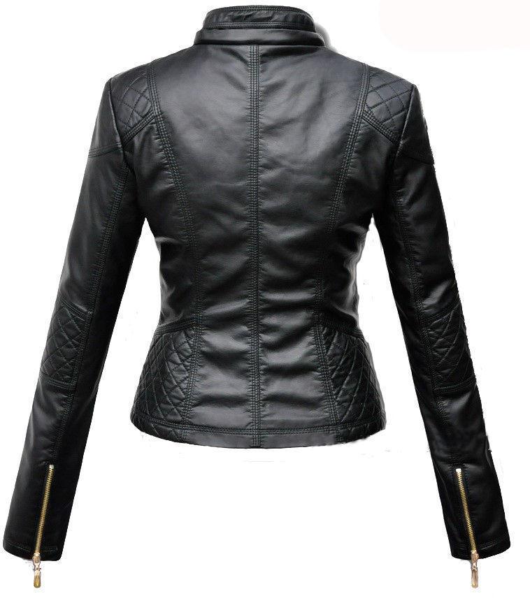 women Designer Designer Designer pelle D'Agnello Motocicletta in pelle Slim Giacca da Motociclista 554516