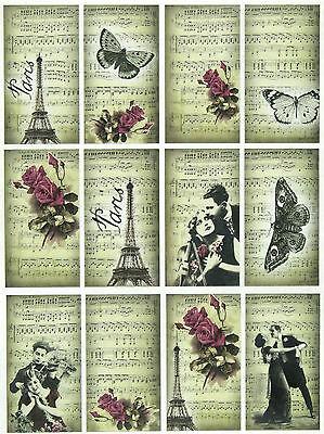 Rice Paper for Decoupage, Scrapbook Sheet, Craft April in Paris