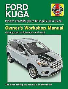 Ford Kuga Ecoboost Petrol & Diesel 2WD 4WD 2013-2020 Haynes Manual 6464 NEW