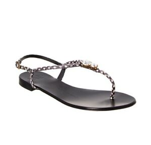 ec6b24d3777 Image is loading Giuseppe-zanotti-flat-sandals-size-4