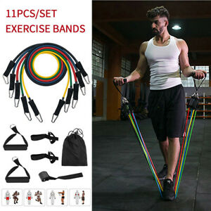 11x Fitness Pull Rope Sets Multi-function Resistance Exercise Equipment Kits GYM