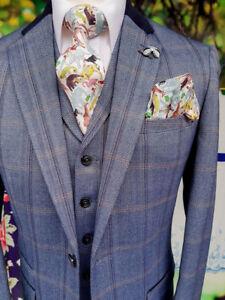 homme ᄄᄂ ConnallCostume piᄄᄄces avec bleus cadeau gratuit carreaux 3 Cavani tQhrds