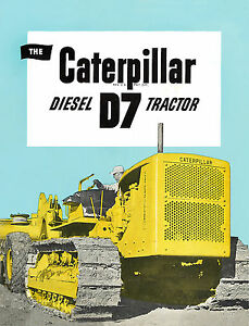 Details about Caterpillar D7 3T Diesel Tractor Sales Book 1944