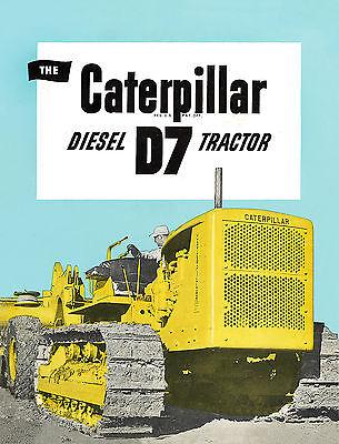 Caterpillar D4 7U Diesel Tractor Sales Book 1956
