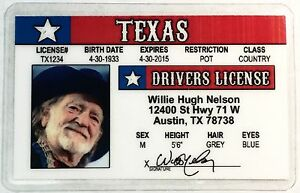 Willie nelson texas drivers license novelty ebay image is loading willie nelson texas drivers license novelty sciox Choice Image