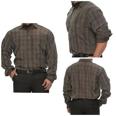 Big /& Tall Synrgy Black and White Striped Long Sleeve Cotton Dress Shirt for Men