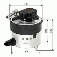 FORD FOCUS 1.6D Fuel Filter 05 to 11 F026402046 Bosch 1386037 5M5Q9155AA Quality