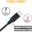 miniature 5 - 6X Wholesale Bulk USB Cable 10FT Braided Type C Charger Data Cord For LG Samsung