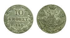 pcc1329_28) Poland (under Russia) Nicholas I, 10 Groszy 1840 MW, Warsaw