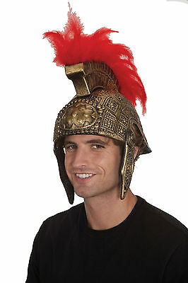 Roman Helmet Spartan Helmet Greek Helmet Gold W Red Feathers 20799