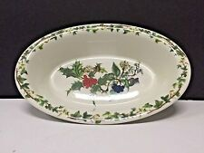 """Portmeirion The Holly And The Ivy 13/"""" OVAL STEAK PLATTER SERVING PLATE New"""