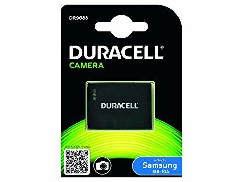 Duracell DR9688 Batteria per Samsung SLB-10A, 3.7 V, 750 mAh, Nero (C3p)