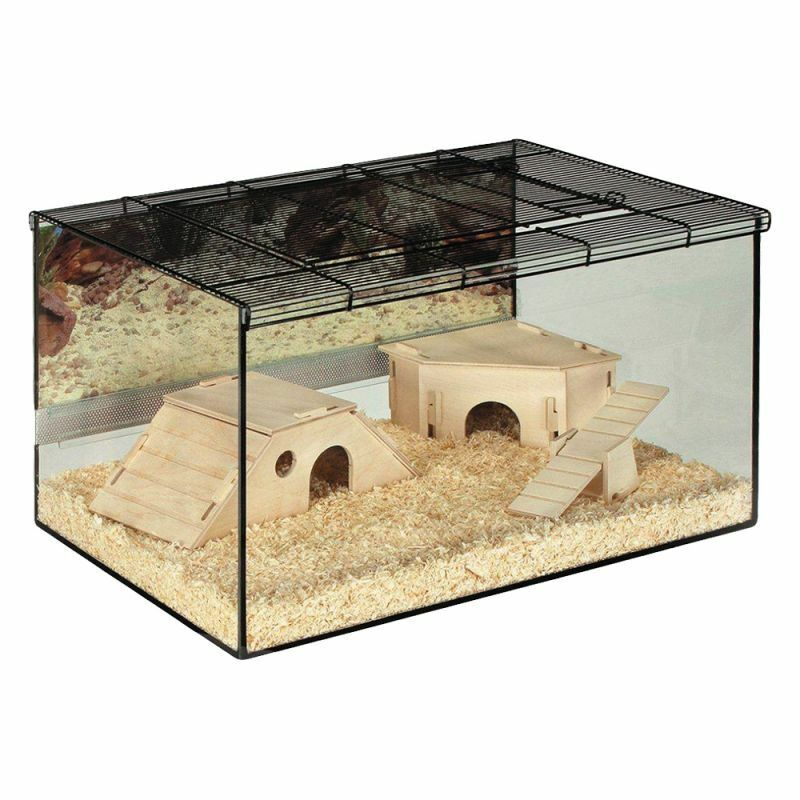 Brand New Glass Cage Terrarium Gerbil Hamster Small Pet Home 75 x 45 x 37cm