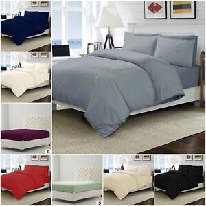 200 Tc Thread Count 100% Egyptian Cotton Extra Deep Fit/ Fitted/ Flat Bed Sheets Flat Sheets