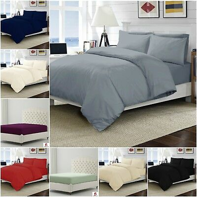 100/% Egyptian Cotton 200 Thread Count Fitted Bed Sheets ALL SIZES EXTRA DEEP
