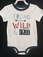 New/tags 3-6 Months First Impressions Baby Boy 100% Cotton One-piece Bodysuit