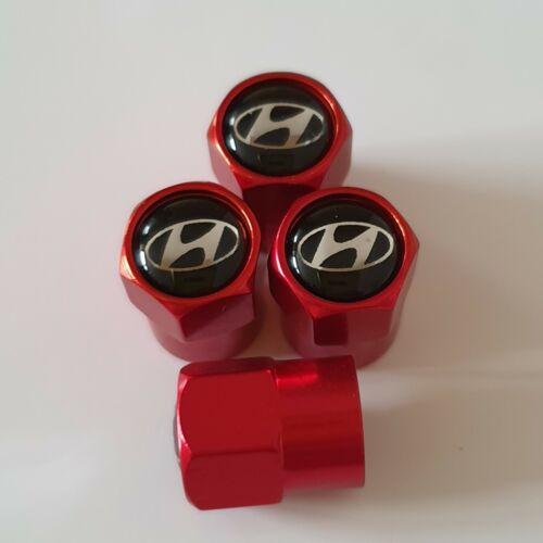 Hyundai metal Rueda Válvula Polvo gorras todos los modelos Rojo 5 Color Acento Elantra loniq