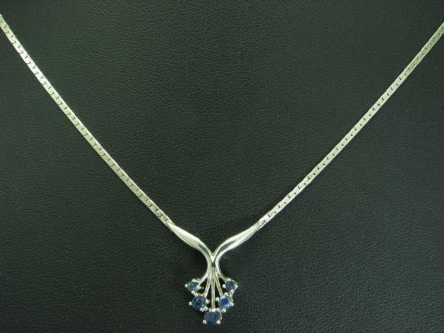 925 STERLING silver COLLIER MIT SPINELL BESATZ   ECHTsilver   5,2g   42,8cm