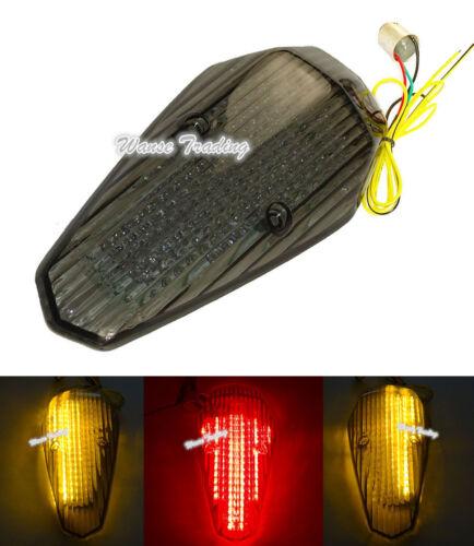 E-Marked Tail Brake Turn Signals Light Smoke For 2004-2008 HONDA Shadow Aero 750