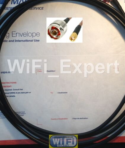 10 x 2 FEET RP-SMA Male N Male WiFi Pigtail Cable Jumper LMR195 RG58 WiFi ROUTER