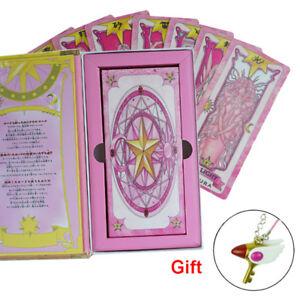 All New 56 PCS Card Captor Sakura Cards With Pink Clow Magic Book Set Prop Gift