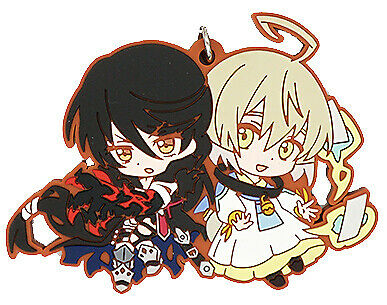 Tales of Berseria Strap Eizen the Reaper Velvet Crowe Rokurou Rubber Keychain