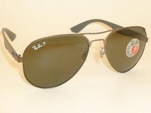 55dedd46e1 New RAY BAN Sunglasses Matte Gunmetal Frame RB 3523 029 9A Polarized ...