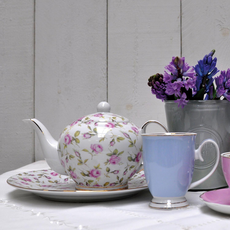 Clayre & Eef Teekanne Kanne Rosan Teepott Rosa 0,75l  TRTE 261515cm | Sehr gelobt und vom Publikum der Verbraucher geschätzt