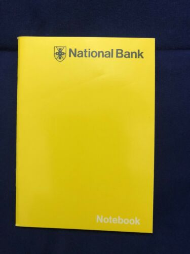 Pack of 20 Vintage National Bank Yellow Memo Booklet. Circa.1970's.