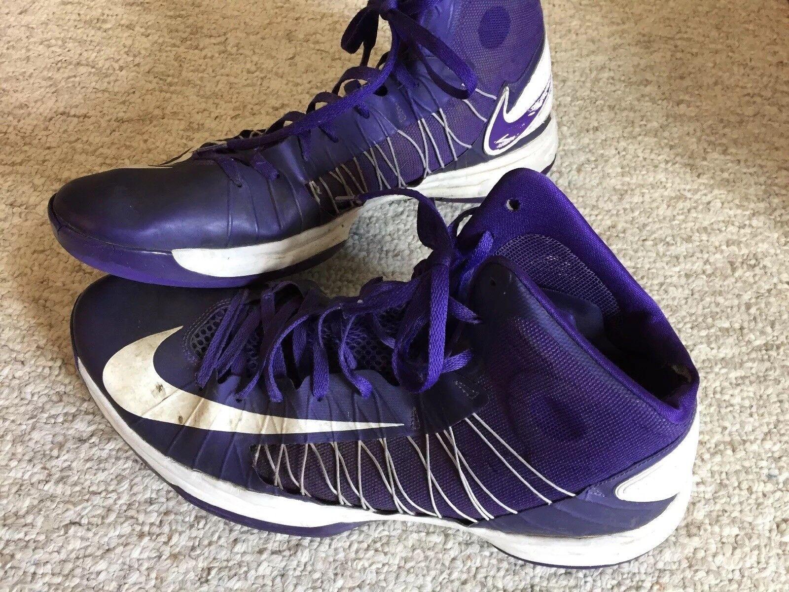 NIKE Hyperdunk Basketball TB Purple White Size 17 High Tops Basketball Hyperdunk Shoes 524882 500 d56e5c