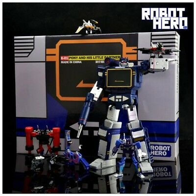 Transformers Toy RobotHero K-01 Pony G1 Soundwave and Six Tape NEW instock