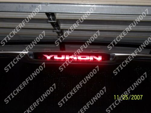 GMC YUKON DENALI 3rd Brake Light VINYL STICKER fits 2000 2001 2002 2003