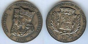 Jeton-LYON-1845-conseil-administration-hospices-civils-argent-19-gr-corne