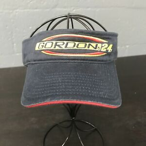 🌴🏁NASCAR Hendrick Motorsports No. 24 Jeff Gordon Visor Cap Hat Blue🌴Free Ship