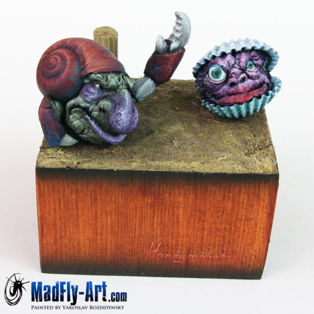 MadFly-Art Frutti Di Mare Crab and Shelldon MASTERS7 painted