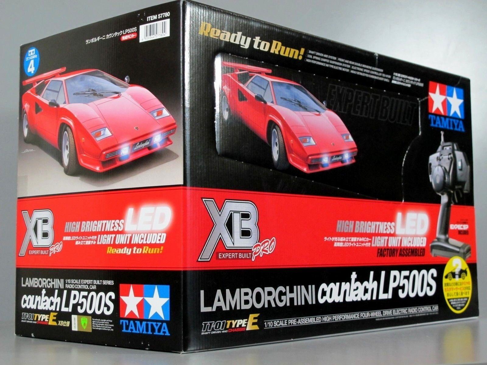 Rare Nuovo Tamiya 1/10 RC rosso Lamborghini Countach LP500S XB Expert Build  57780