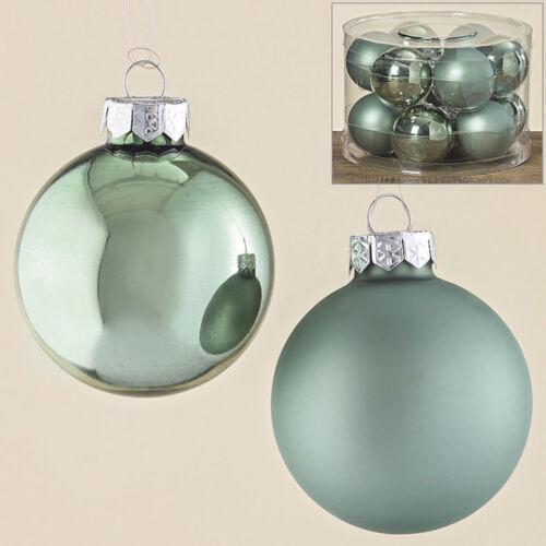 Kugel Set Wintergrün Glas lackiert versch Größen//Inhalte Christbaumkugeln