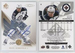 3ec2c681 Details about 2017 SP Authentic Limited Autographs #6 Mark Scheifele  Winnipeg Jets Auto Card